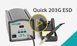 Quick 203G ESD Induction Lead-Free Soldering Station Video Review