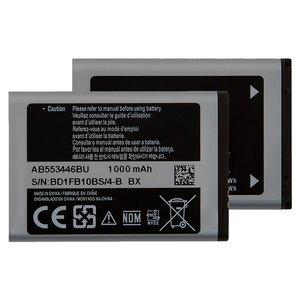 Battery AB553446BU compatible with Samsung C5212, (Li-ion, 3.7 V, 1000 mAh)