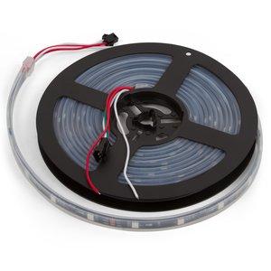 RGB LED Strip SMD5050, WS2811 (with controls, black, IP67, 12 V, 30 LEDs/m, 5 m)