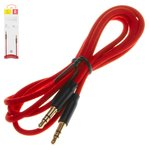 AUX Cable Baseus M30, (TRS 3.5 mm, 100 cm, red, nylon braided) #CAM30-B91