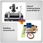 Estación de soldadura infrarroja Scotle IR-PRO-SC + Juego de accesorios para reballing