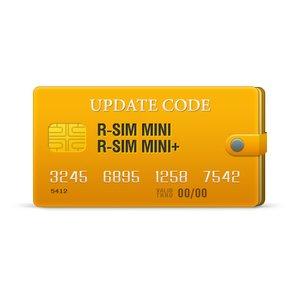 Código de actualización para R-Sim Mini+ / Mini
