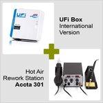 UFi Box Versión internacional + Estación de soldadura de aire caliente Accta 301 (220V)