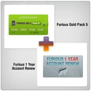 Продление доступа в зону поддержки Furious на 1 год + Furious Gold Pack 5