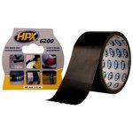 Лента армированная односторонняя HPX 6200, 50 мм, 25 м, черная