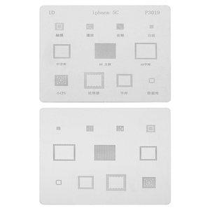 BGA-трафарет P3019 для мобільного телефону Apple iPhone 5C, 11 в1