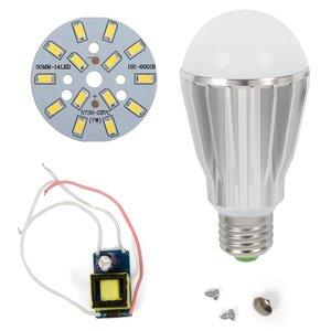 LED Light Bulb DIY Kit SQ-Q17 5730 7 W (cold white, E27), Dimmable