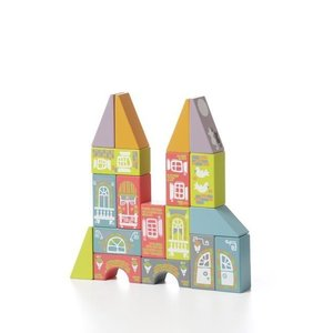 Wooden Construction Set CUBIKA Magic Town LKM-2